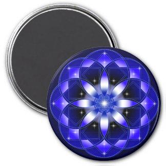 Cosmic Flower 3 Inch Round Magnet
