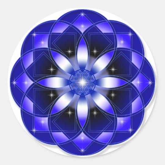 Cosmic Flower Classic Round Sticker