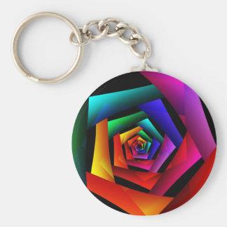 Cosmic FlowerCute Cool Modern Abstract Art Keychain
