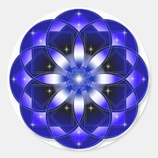 Cosmic Flower Round Sticker