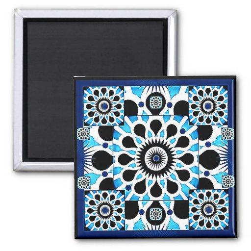 Cosmic Flowers III Magnet