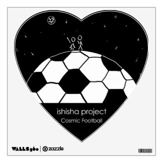 Cosmic Football Wall Decal - Love Illustration