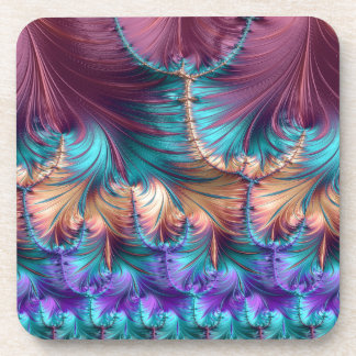 Cosmic Fountain of Childhood Fractal Abstract Coaster