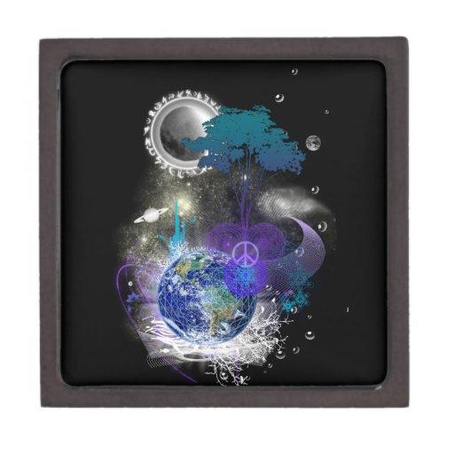 Cosmic geometric peace premium keepsake box
