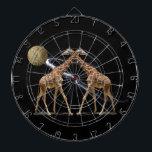"""COSMIC GIRAFFES 2 DARTBOARD<br><div class=""""desc"""">A fanciful image featuring giraffes.</div>"""