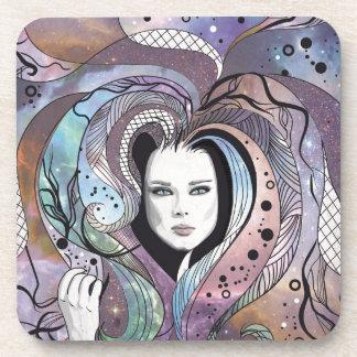 Cosmic Hair Beverage Coaster