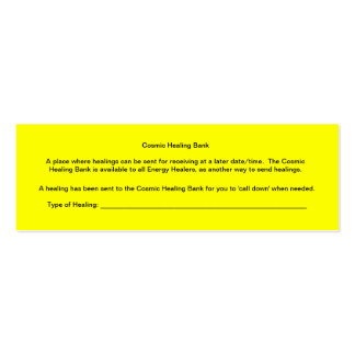 Cosmic Healing Bank Double-Sided Mini Business Cards (Pack Of 20)