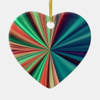 """Cosmic Heart"" Double-Sided Heart Ceramic Christmas Ornament"