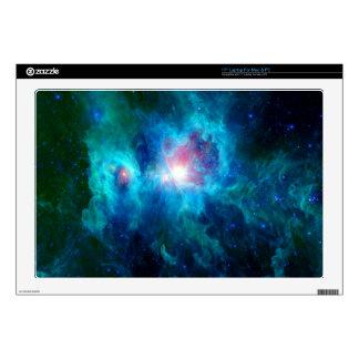 Cosmic Hearth Azul Laptop Decal