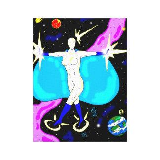 Cosmic Heroine canvas