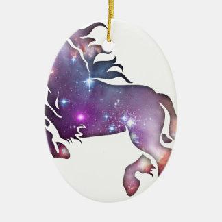 Cosmic Horse Ceramic Ornament
