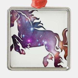 Cosmic Horse Metal Ornament