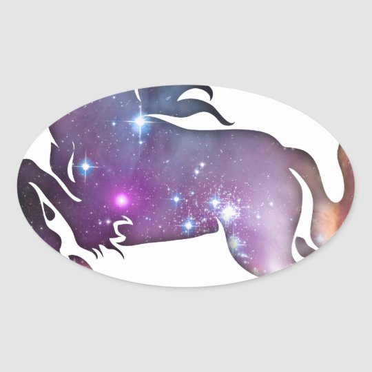 Cosmic Horse Oval Sticker