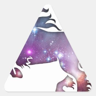 Cosmic Horse Triangle Sticker