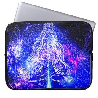 Cosmic Iridescent Koi Computer Sleeve