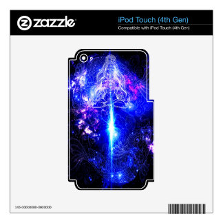 Cosmic Iridescent Koi iPod Touch 4G Decal