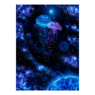 Cosmic Jellyfish Poster