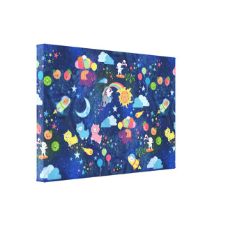 Cosmic Kawaii Canvas Print