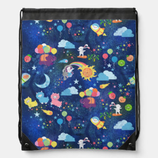 Cosmic Kawaii Drawstring Bag