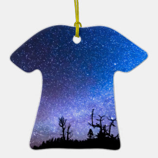 Cosmic Kind Of Night Double-Sided T-Shirt Ceramic Christmas Ornament