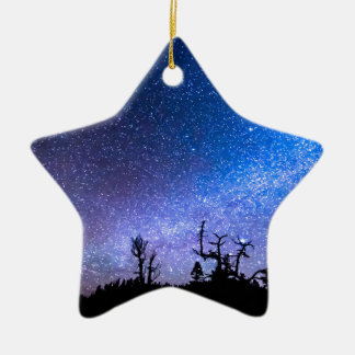 Cosmic Kind Of Night Double-Sided Star Ceramic Christmas Ornament