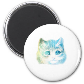 Cosmic Kitty 2 Inch Round Magnet