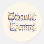 Cosmic Latte Round Sticker