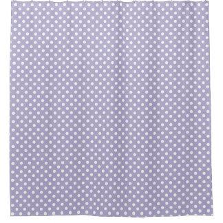 Cosmic lavender/purple polka dots shower curtain