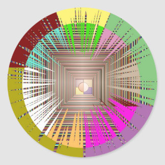 Cosmic Light Source Design Round Sticker
