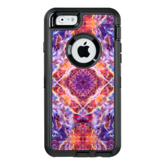 Cosmic Lightning Cross Mandala OtterBox Defender iPhone Case