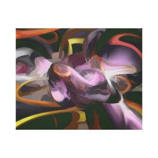 Cosmic Lightning Pastel Abstract Canvas Print