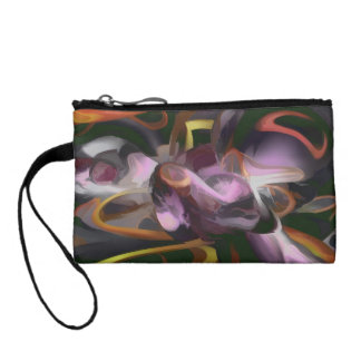 Cosmic Lightning Pastel Abstract Coin Purse