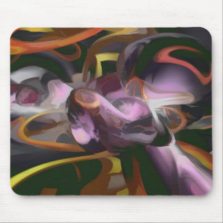 Cosmic Lightning Pastel Abstract Mouse Pad