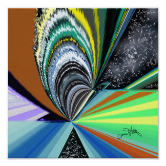 Cosmic Lights Poster