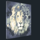 "COSMIC LION KING CANVAS PRINT<br><div class=""desc"">COSMIC LION KING CANVAS PRINT</div>"