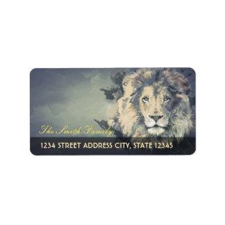 COSMIC LION KING | Custom Address Labels