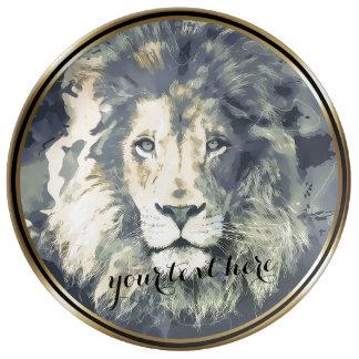 COSMIC LION KING | Custom Decorative Porcelain Pla Dinner Plate
