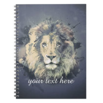 COSMIC LION KING   Custom Notebook (80 Pages B&W)
