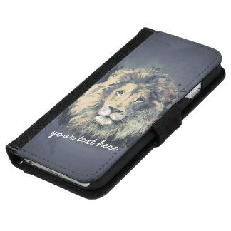 COSMIC LION KING iPhone 6 / Galaxy S5 Wallet Cases iPhone 6 Wallet Case