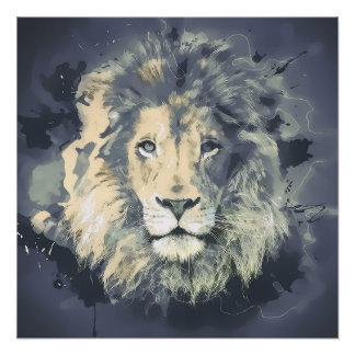 COSMIC LION KING POSTER