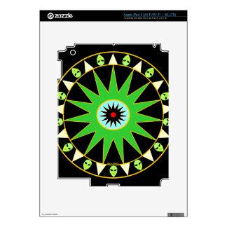 Cosmic Little Green Men iPad 3 Skin