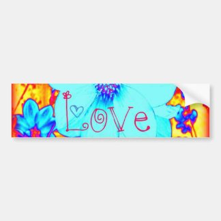 Cosmic Love Psychedelic Flower Bumper Sticker