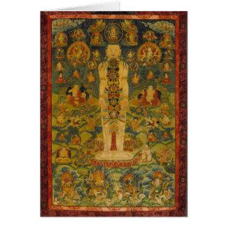 Cosmic Man Tibetan Yoga Thangka Greeting Cards