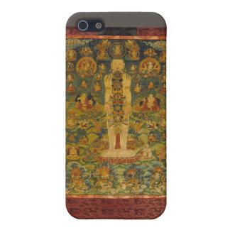 Cosmic Man Tibetan Yoga Thangka Case For iPhone SE/5/5s