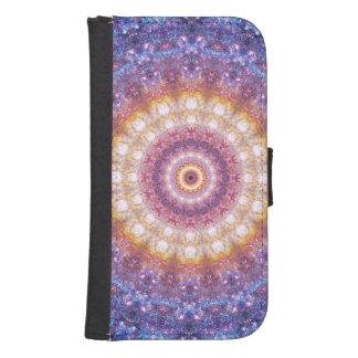 Cosmic Mandala Wallet Phone Case For Samsung Galaxy S4