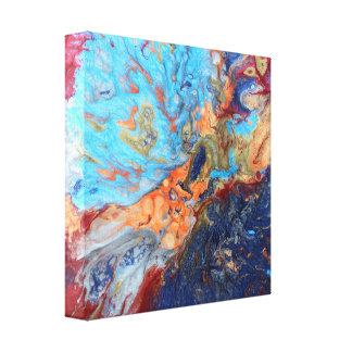 Cosmic marbles canvas print