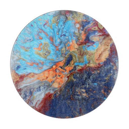Zazzle Cosmic marbles Cutting Board