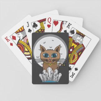 Cosmic Moon Cat - Blue - Card Deck