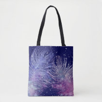 *~* Cosmic Mystical Celestial Feathers Star Sky Tote Bag