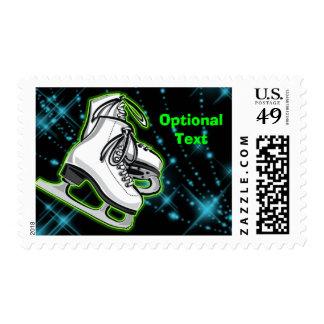 Cosmic Neon Ice Skates - Customizable Postage